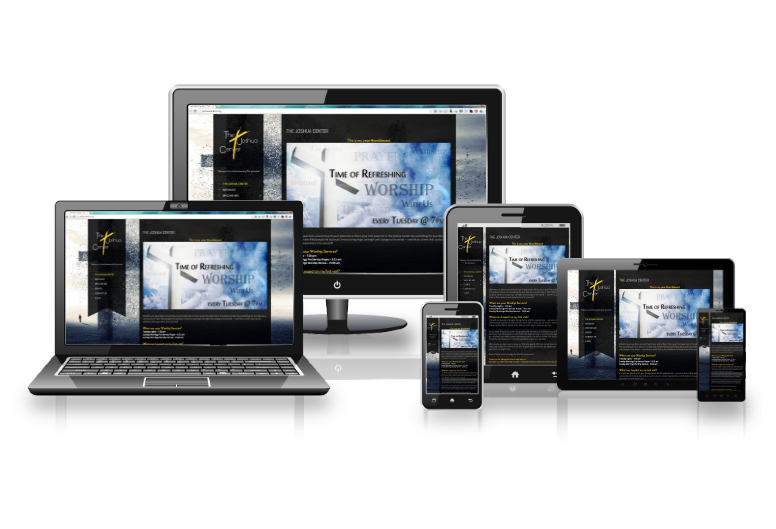Joshua Center Responsive layout options on different devices
