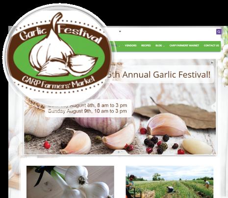 Garlic festival site