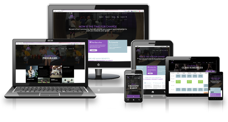 CrossFit Karst Responsive layouts