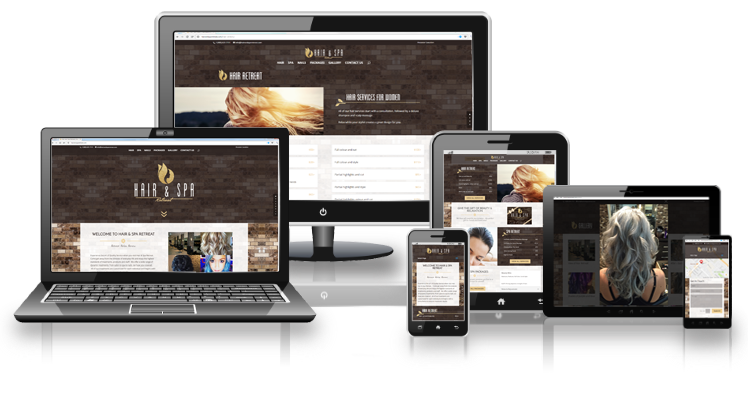Hair & Spa Retreat responsive layouts