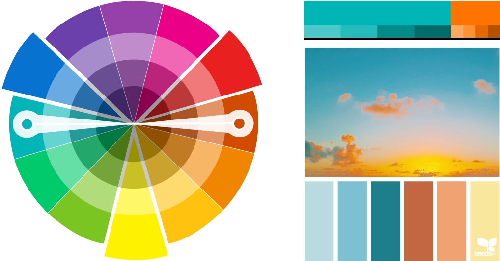 Complementary colour palettes