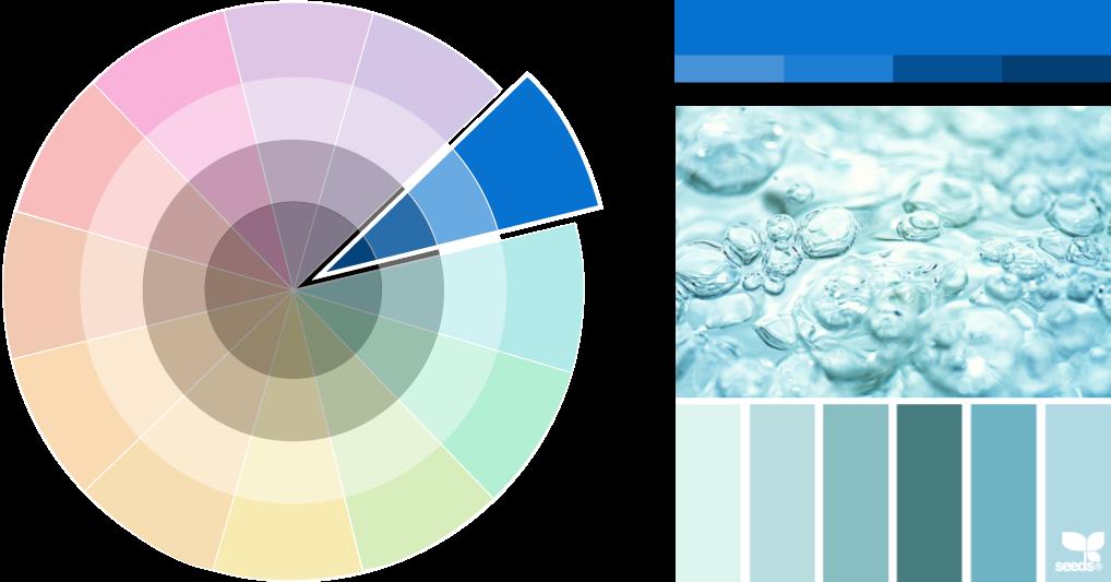 Monochromatic colour scheme palettes