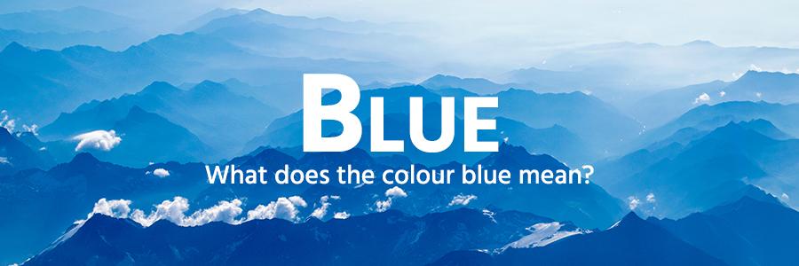 Blue colour example - mountains