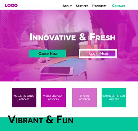 Vibrant colour scheme